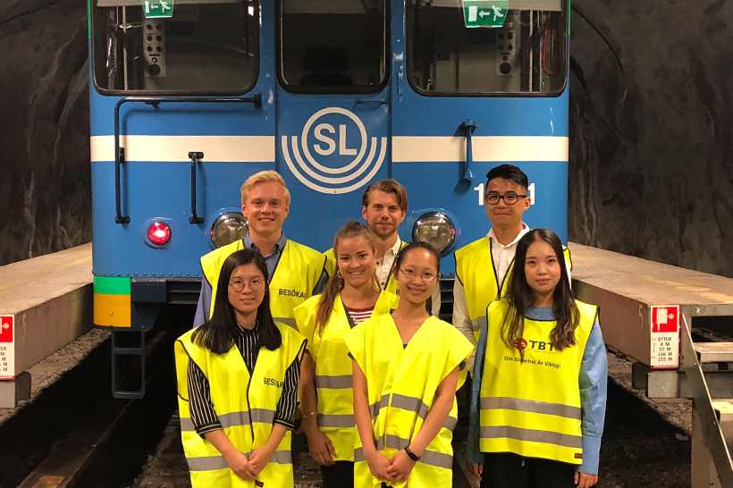MTR summer interns framför cx i rissnedepån